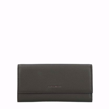 Coccinelle woman's wallet Metallic Soft with flap reef, Coccinelle portafogli donna Metallic Soft con patella reef