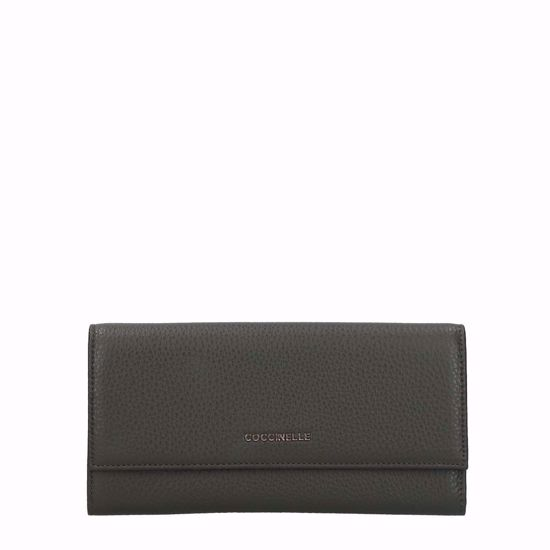 Coccinelle woman's wallet Metallic Soft with flap reef, Coccinelle portafogli donna Metallic Soft con patella reef