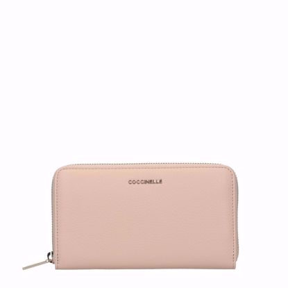 coccinelle portafogli donna con zip Metallic Soft nude, Coccinelle woman's wallet with zip Metallic Soft nude