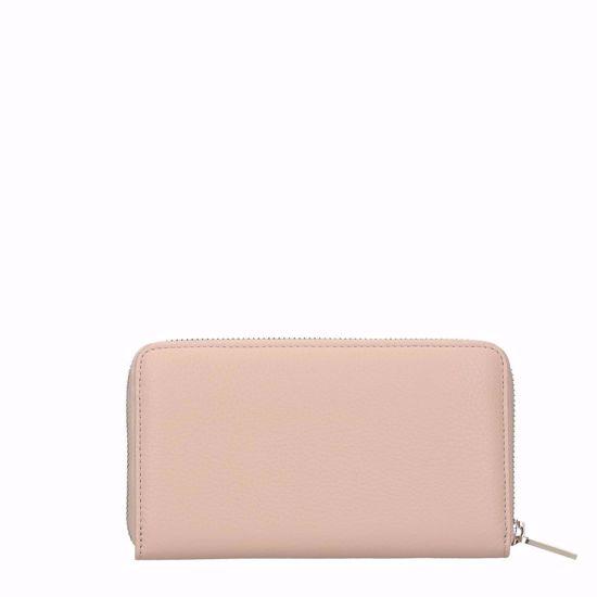 coccinelle portafogli donna con zip Metallic Soft nude, Coccinelle woman's wallet with zip Metallic Soft nude