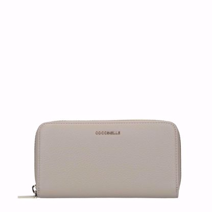 Coccinelle portafogli donna Metallic Soft seashell, Coccinelle woman's wallet Metallic Soft seashell