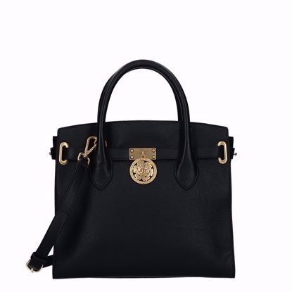 Guess borsa a mano in pelle Luxe nero, Guess bag Luxe leather black