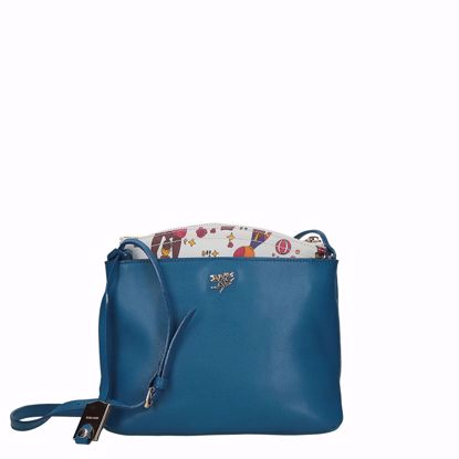Piero Guidi borsa a tracolla Magic Circus pelle blu, Piero Guidi crossbody bag Magic Circus leather blue