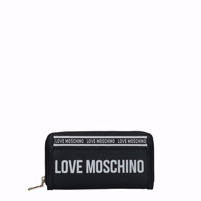 Love Moschino portafogli donna Grain Mix nero, Love Moschino woman wallet Grain Mix black