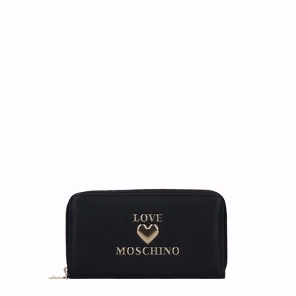 Love Moschino portafogli donna Papped Heart nero, Love Moschino woman wallet Papped Heart black