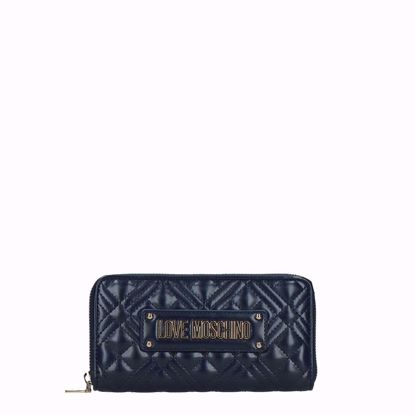 Love Moschino portafogli donna Quilted navy, Love Moschino woman wallet Quilted navy