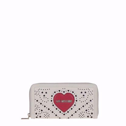 Love Moschino portafogli donna Cuore bianco, Love Moschino woman wallet Cuore white