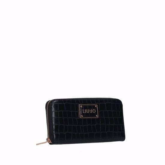Liu Jo woman wallet Natu cocco black, Liu Jo portafogli donna Natu cocco nero
