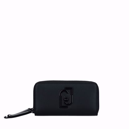 Liu Jo woman wallet with double zip Young black, Liu Jo portafogli donna doppia cerniera Young nero