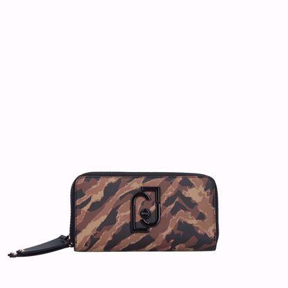 Liu Jo woman wallet with double zip Young maculato