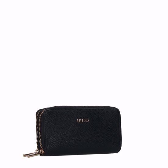 Liu Jo portafogli donna con doppia cerniera Enig nero, Liu Jo woman wallet with double zip Enig black
