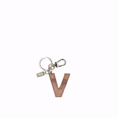 Alviero Martini portachiavi lettera V Geo Classic, Alviero Martini keys holder letter V Geo Classic