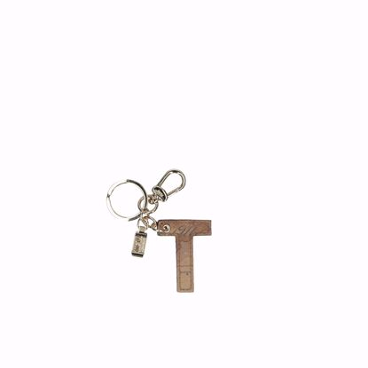 Alviero Martini portachiavi lettera T Geo Classic, Alviero Martini keys holder letter T Geo Classic