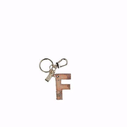 Alviero Martini portachiavi lettera F Geo Classic, Alviero Martini keys holder letter F Geo Classic