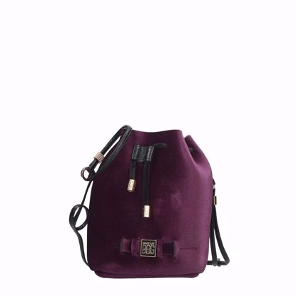 Save My Bag borsa a secchiello Bulle Velvet century, Save My Bag bucket bag Bulle Velvet century