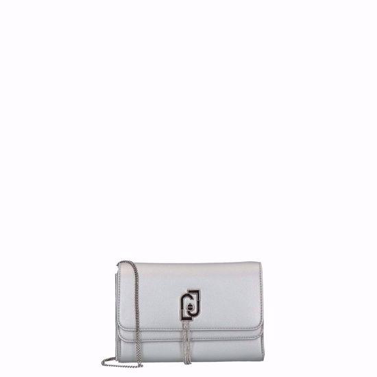 Liu Jo pochette bag night silver, Liu Jo borsa pochette con tracolla Sera silver