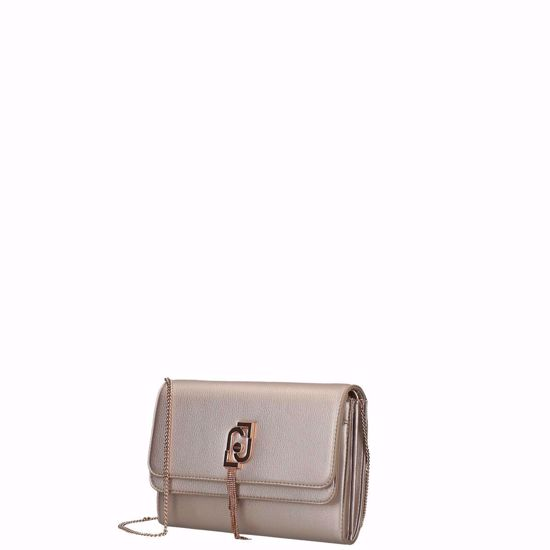 Liu Jo borsa pochette con tracolla Sera light gold, Liu Jo pochette bag night light gold