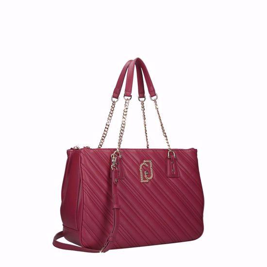 Liu Jo bag satchel Cool M cherry, Liu Jo borsa a spalla satchel Cool M ciliegia