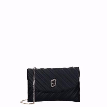 Liu Jo borsa pochette XL Cool nero, Liu Jo pochette bag XL Cool black