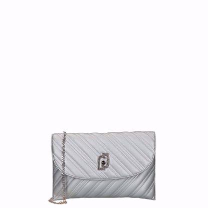 Liu Jo borsa pochette XL Cool silver, Liu Jo pochette bag XL Cool silver
