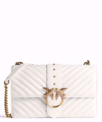 Pinko Love Bag Icon V Quilt - White