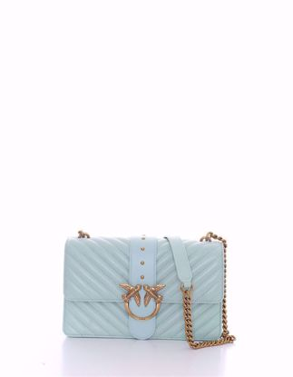 Pinko Love Bag Icon V Quilt - Aqua green