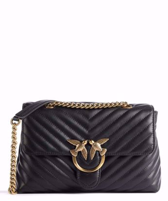 Pinko Love Bag Puff Lady V Quilt - Black