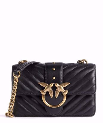 Pinko Mini Love Bag Icon V Quilt mix - Black