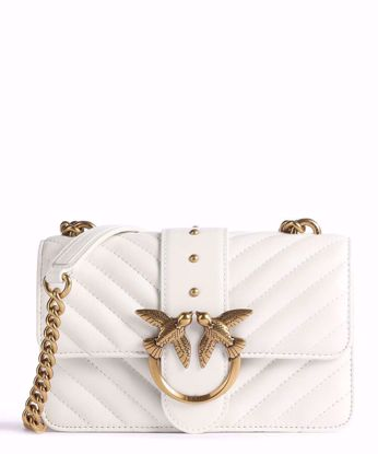 Pinko Mini Love Bag Icon V Quilt mix - White
