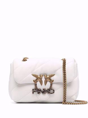 Pinko Mini Love Bag Puff Jewel - White