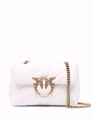 Pinko Mini Love Bag Puff Maxi Quilt - White