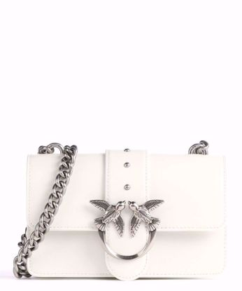 Pinko Mini Love Bag Simply Icon Classic - White silver
