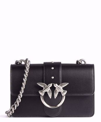 Pinko Mini Love Bag Simply Icon Classic - Black silver