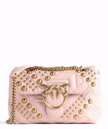Pinko Mini Love Bag Puff Woven Studs - Pink
