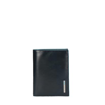 Immagine di portafoglio uomo verticale Blue Square nero