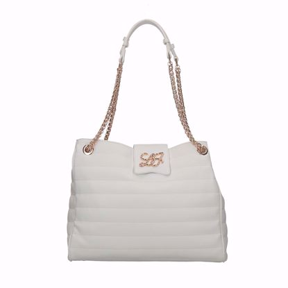 Liu Jo borsa shopping Sapiente off white, shopping bag Sapiente off white Liu jo
