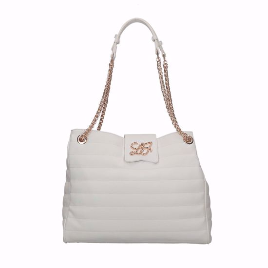 Liu Jo borsa shopping Sapiente off white, shopping bag Sapiente off white Liu jo