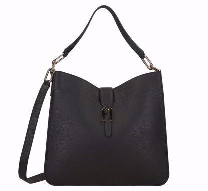 Furla borsa a sacca M Sofia nero, Furla bag M Sofia black