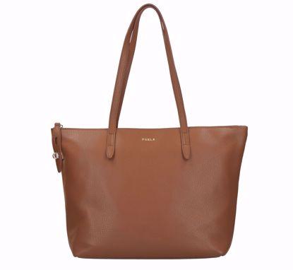 Furla borsa a shopping Net cognac, Furla shopping bag Net cognac