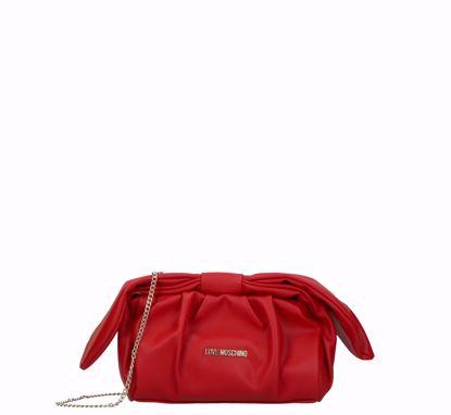 Love Moschino borsa pochette rosso, Love Moschino pochette bag red