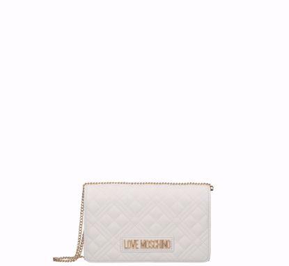Love Moschino  borsa a tracolla Quilted Nappa S bianco, Love Moschino crossbody bag Quilted Nappa white