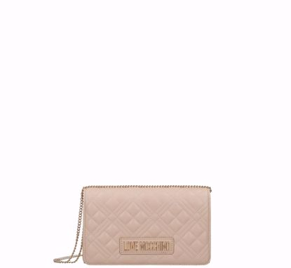 Love Moschino borsa a tracolla Quilted Nappa S naturale, Love Moschino crossbody bag Quilted Nappa natural