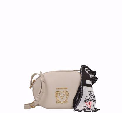 Love Moschino borsa a tracolla Logo avorio, Love Moschino crossbodybag Logo ivory