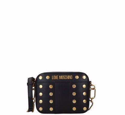 Love Moschino crossbodybag Gold Studs black, Love Moschino borsa a tracolla Gold Studs nero