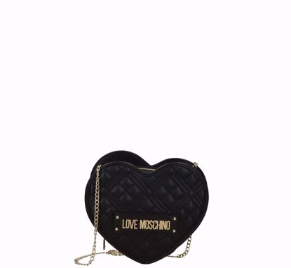 Love Moschino crossbody bag Quilted Nappa heart black, Love Moschino borsa a tracolla Quilted Nappa cuore nero