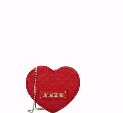 Love Moschino crossbody bag Quilted Nappa heart red, Love Moschino borsa a tracolla Quilted Nappa cuore rosso