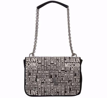 Love Moschino borsa a spalla Fantasy nero, Love Moschino bag Fantasy black
