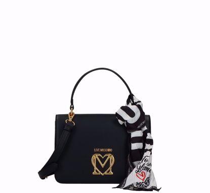Love Moschino borsa a mano Logo nero, Love Moschino bag Logo black