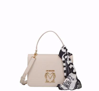 Love Moschino borsa a mano Logo avorio, Love Moschino bag Logo ivory