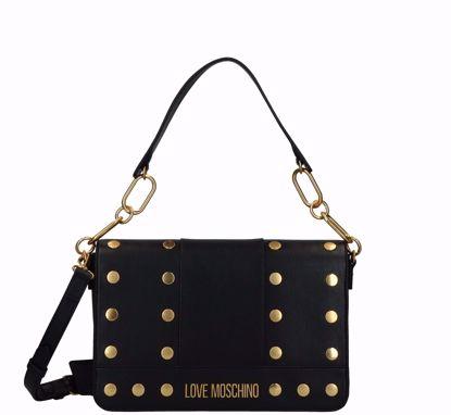 Love Moschino bag Gold Studs black, Love Moschino borsa a spalla Gold Studs nero